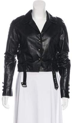 Robert Rodriguez Button-Up Leather Jacket