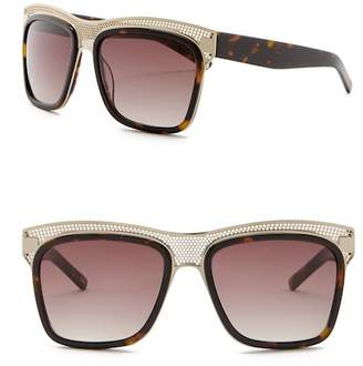 Elie Tahari 57mm Perforated Square Sunglasses