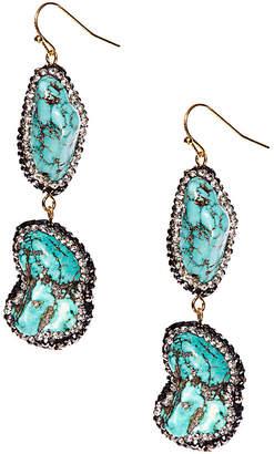 Eye Candy Los Angeles Stormy Sea Gemstone Drop Earrings