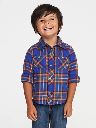 Old Navy Plaid Flannel Shirt for Toddler Boys