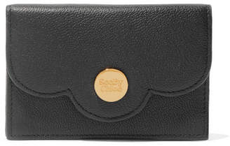See by Chloe Polina Scalloped Textured-leather Wallet - Black