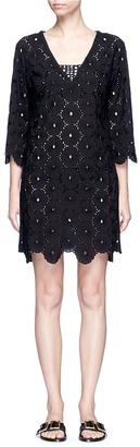 ViX Cutwork lace cotton dress $190 thestylecure.com