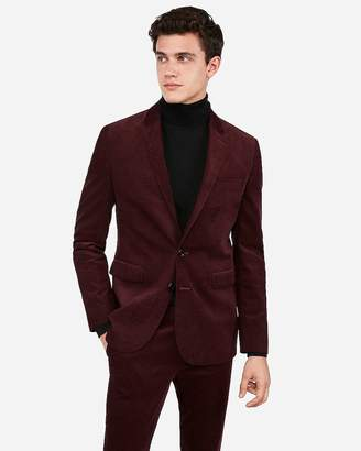 Express Extra Slim Burgundy Corduroy Suit Jacket
