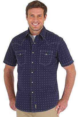Wrangler Men's Size Retro Premium Tall Short Sleeve Snap Front Shirt