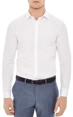 Sandro Hidden Slim Fit Button-Down Shirt