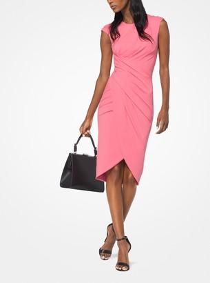 Michael Kors Ruched Stretch Matte-Jersey Dress