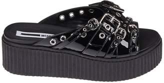 McQ Chunky Sole Wedge Sandals