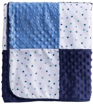 Just Born Patchwork Star Velboa Blanket