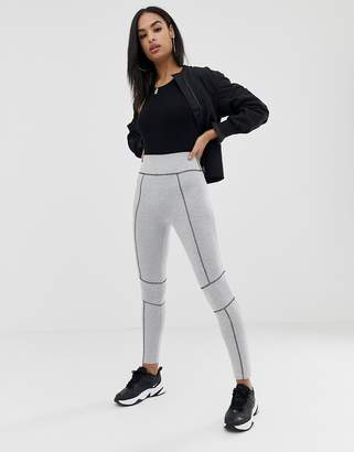 Asos Design DESIGN legging with contrast panels and deep waistband