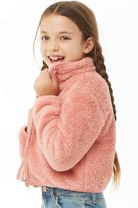 Forever 21 Girls Faux Fur Jacket (Kids)