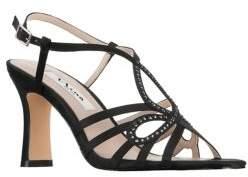 Nina Amabel Satin Embellished Sandals
