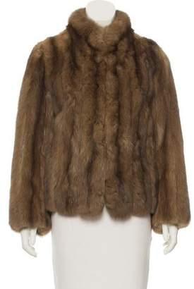 Oscar de la Renta Sable Fur Jacket