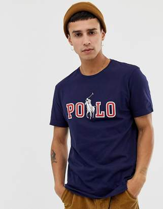 1bce276e8455 Polo Ralph Lauren crew neck t-shirt with polo brand logo and polo player  with