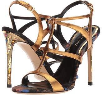 Etro Metallic Strappy Heel Women's Sandals