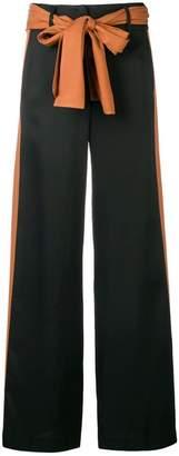 Just Cavalli side stripe palazzo trousers