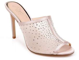 Badgley Mischka Glory Rhinestone Embellished Sandal