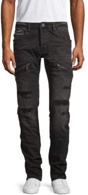 Cult of Individuality Greaser Slim Straight Ripped Jeans