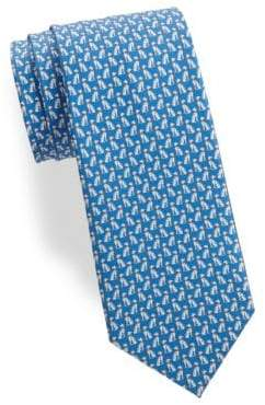 Salvatore Ferragamo Spotted Dog Silk Tie