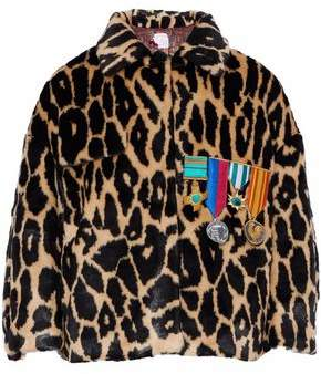 Stella Jean Appliqued Leopard-print Faux Fur Jacket