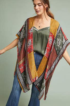 Anthropologie Blocked Print Kimono