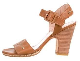 Stuart Weitzman Leather Strap Sandals