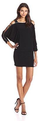 Betsy & Adam Women's Blouson Cold Shoulder Dress $169 thestylecure.com