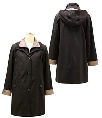 Gallery Women's Plus Size 3/4 a Line Rain Coat