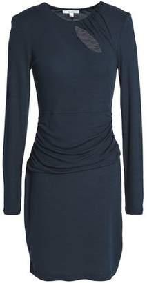 Dagmar House Of Jaledar Cutout Ruched Stretch-Jersey Mini Dress