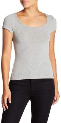 Project Social T Ribbed Scoop Neck Tee
