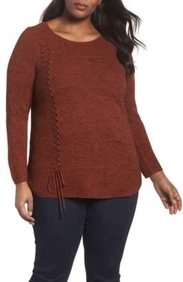 Nic+Zoe Braided Up Sweater