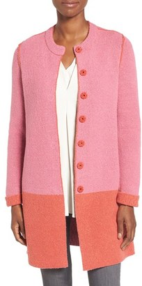 Women's Nic+Zoe 'Bold Block' Reversible Colorblock Knit Coat $208 thestylecure.com