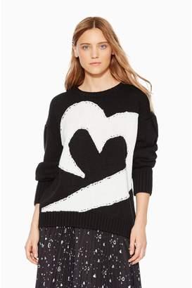 Parker Olive Heart Sweater