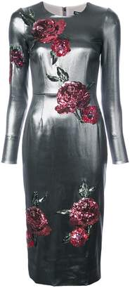 Dolce & Gabbana rose patch dress