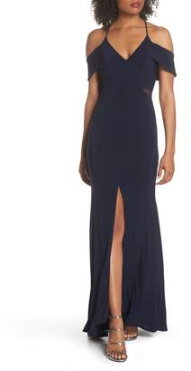Xscape Evenings Cold Shoulder Gown