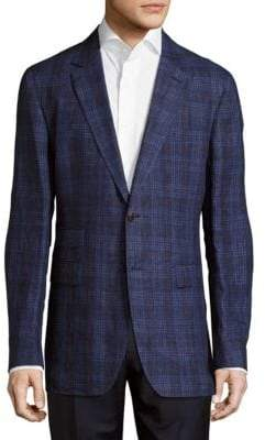 Façonnable Plaid Linen Jacket