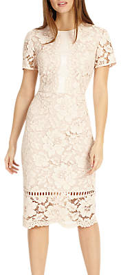 Phase Eight Darena Lace Dress, Pink