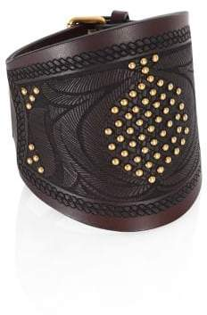 Valentino Primitive Leather Bracelet