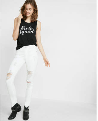 Express bride squad muscle tank