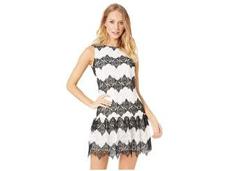 Betsey Johnson Fit and Flare Lace Dress Women's Dress