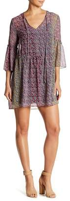 BCBGeneration Floral Patterned 3/4 Sleeve Dress