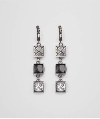 Bottega Veneta Cubic Zirconia/Enamel/Silver Earring