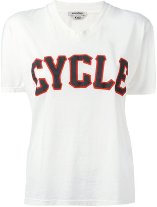 Cycle v-neck print T-shirt $79.16 thestylecure.com