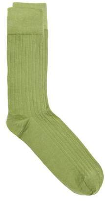 Corgi Solid Dress Sock in Green