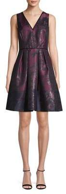 Vince Camuto Jacquard Fit--Flare Dress