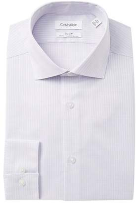 Calvin Klein Textured Stretch Slim Fit Dress Shirt