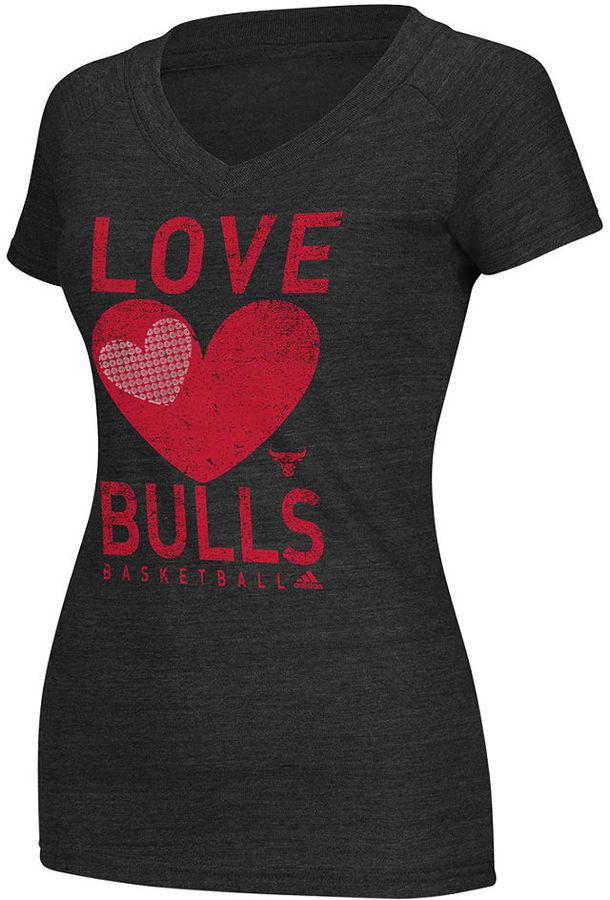 adidas Women's NBA Shirt, Chicago Bulls Her Love T-Shirt
