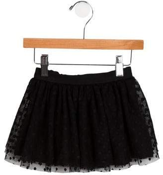 Milly Minis Girls' Tulle Polka Dot Skirt