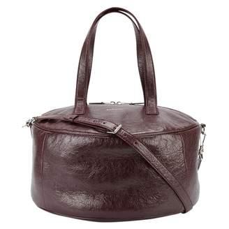 Balenciaga Air Hobo Burgundy Leather Handbag