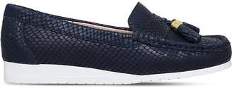 Carvela Comfort Cost snakeskin-embossed leather loafers