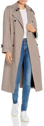 Anine Bing London Plaid Trench Coat